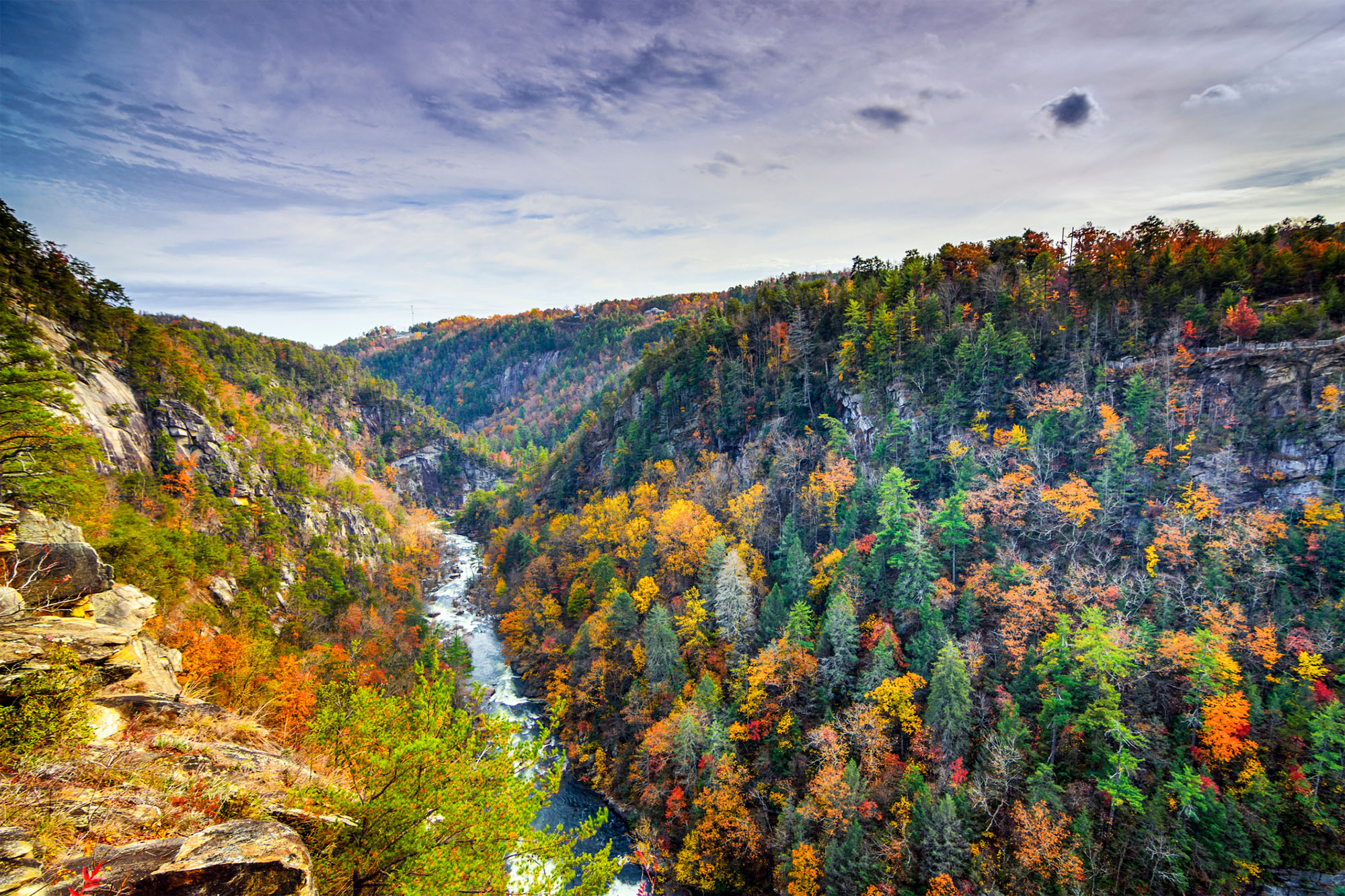 Tallulah Gorge State Park in the fall