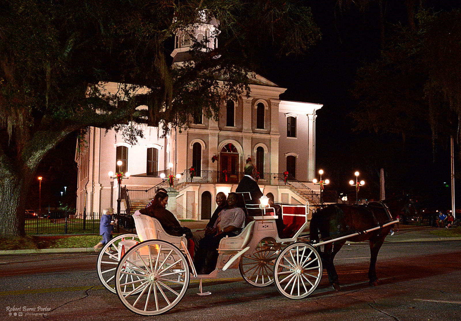 Carriage rides during Victorian Christmas in Thomasville, Georgia