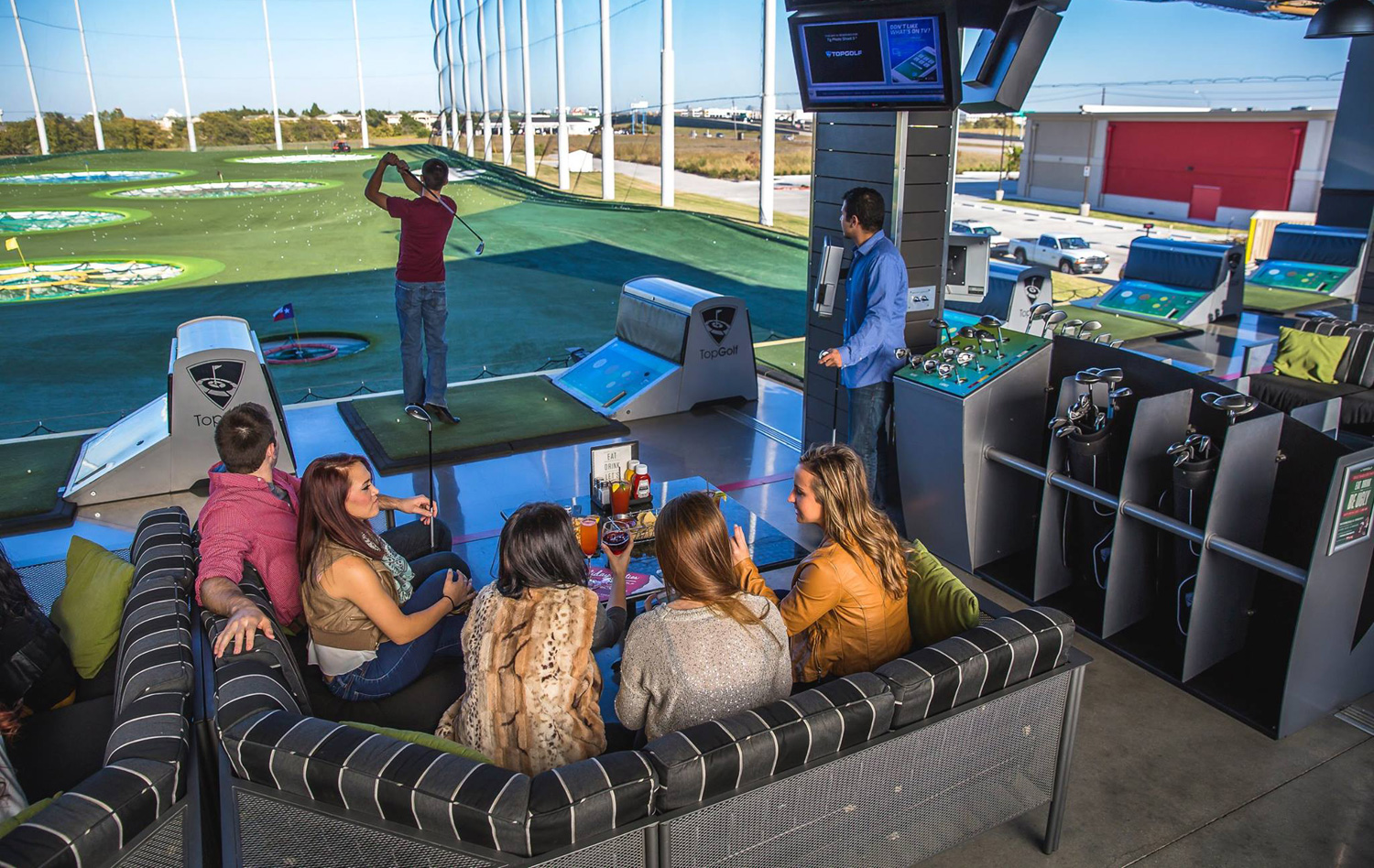 With 100 hitting bays in three stories, state-of-the-art technology and outstanding food, TopGolf is a hit even for people who have never played golf. - TopGolf Alpharetta