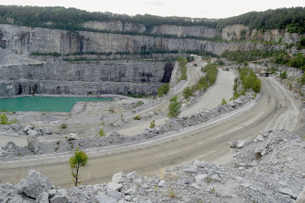 Vulcan Materials Quarry in Stockbridge. Photo courtesy Gwinnett Daily Post