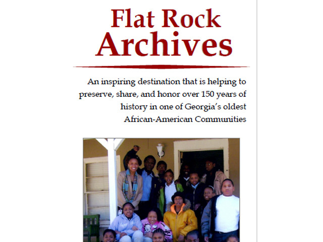 Flat Rock Archives Brochure