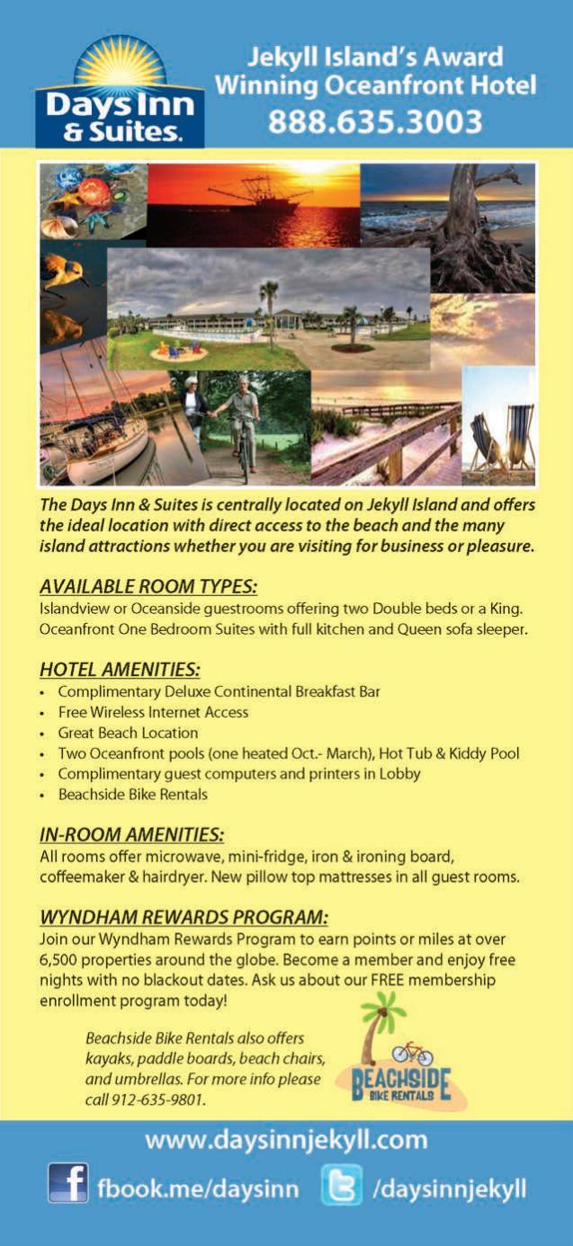 Days Inn & Suites - Jekyll Island Rack Card   Official