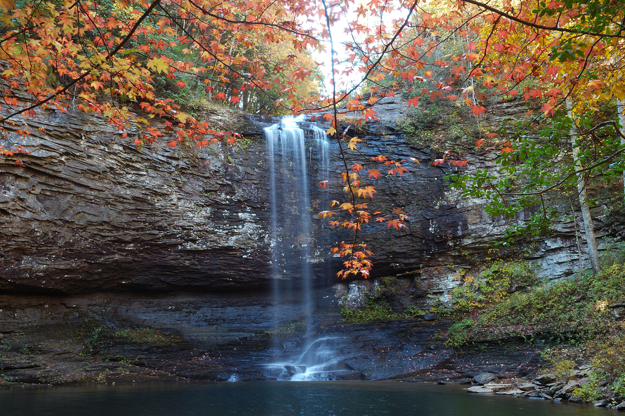 Cherokee Falls at Cloudland Canyon State Park in Rising Fawn, Georgia