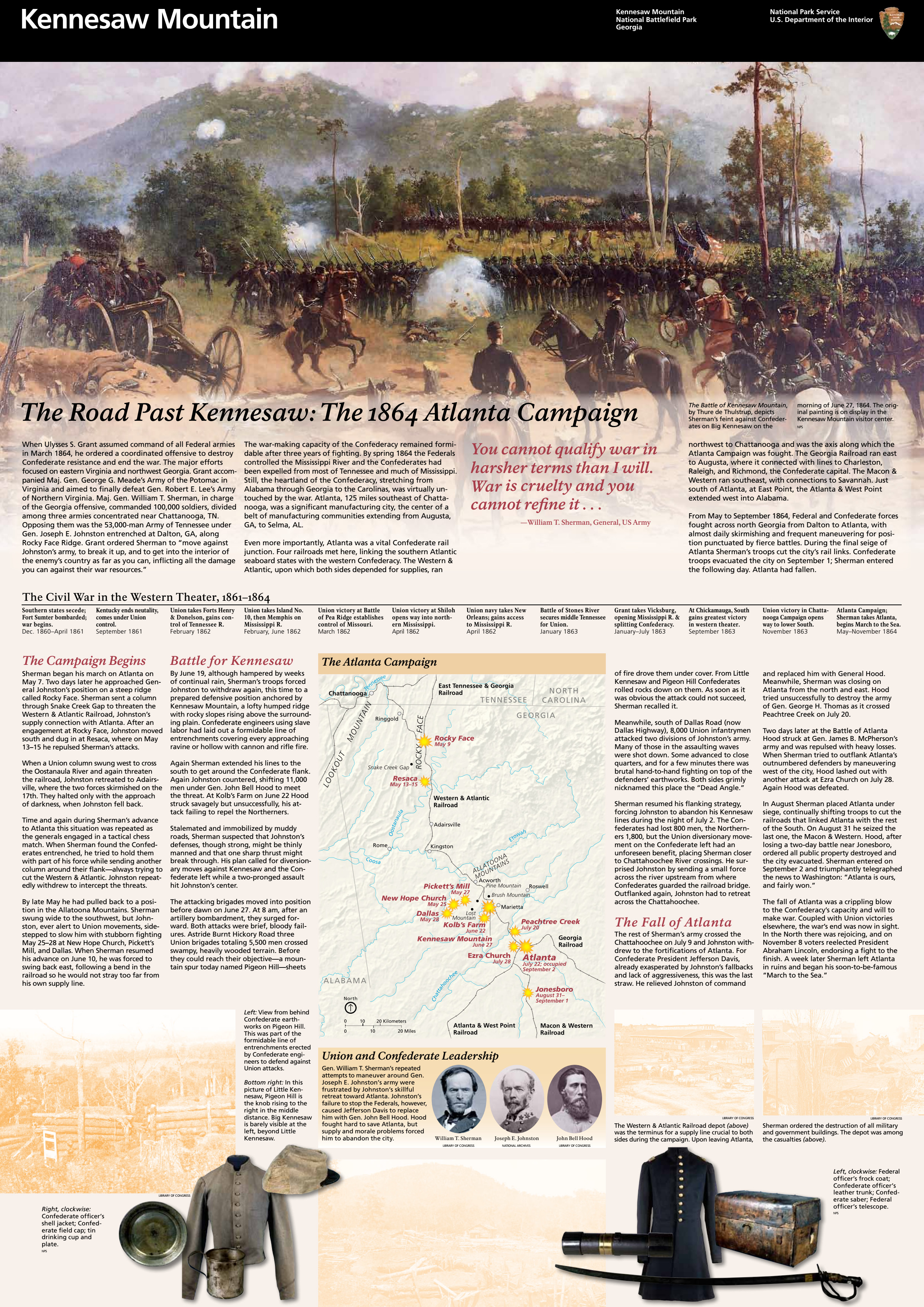 Kennesaw Mountain National Battlefield Park Brochure