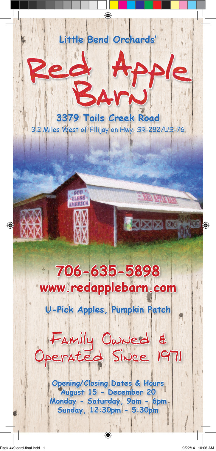 Red Apple Barn Brochure | Official Georgia Tourism ...