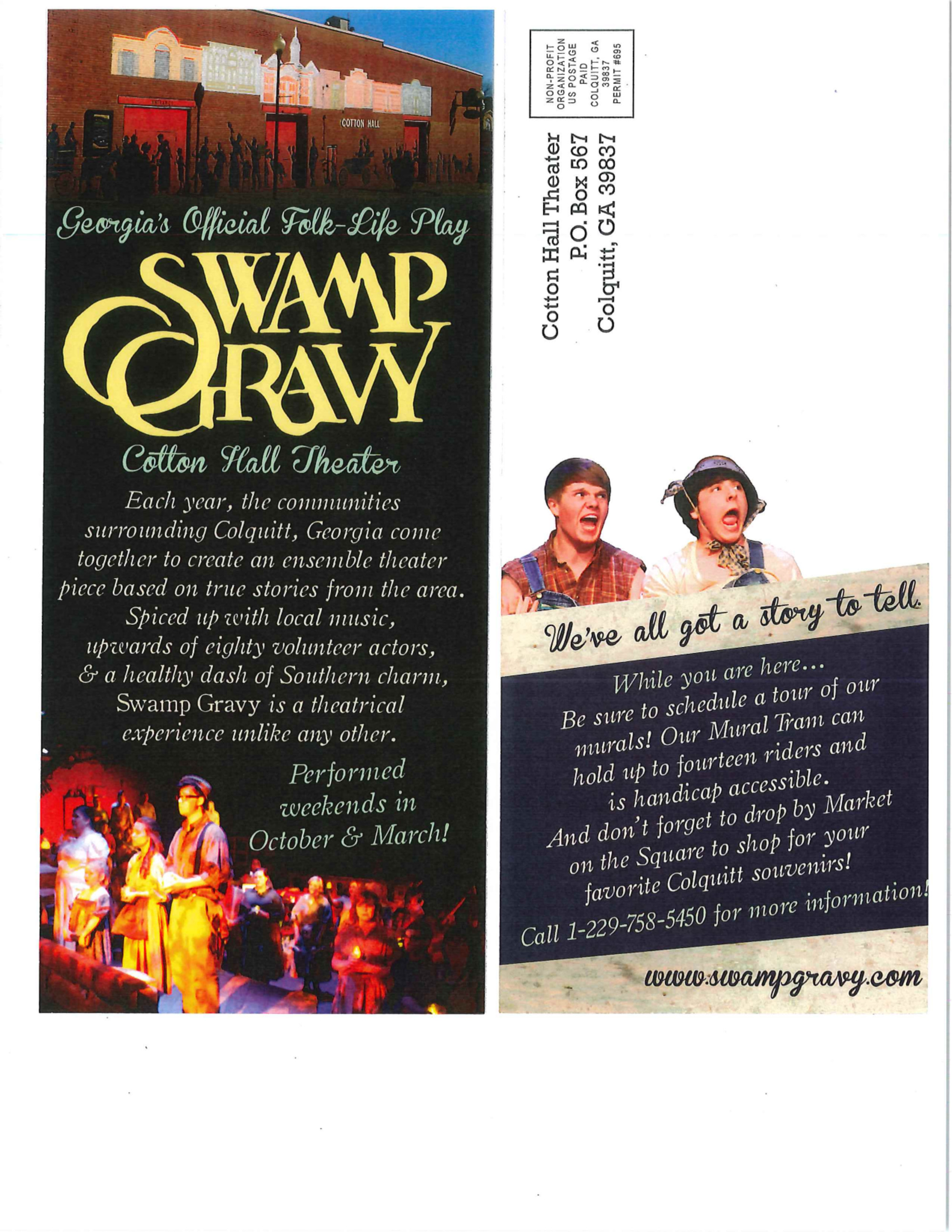 Swamp Gravy, Georgia's Official Folk Life Play