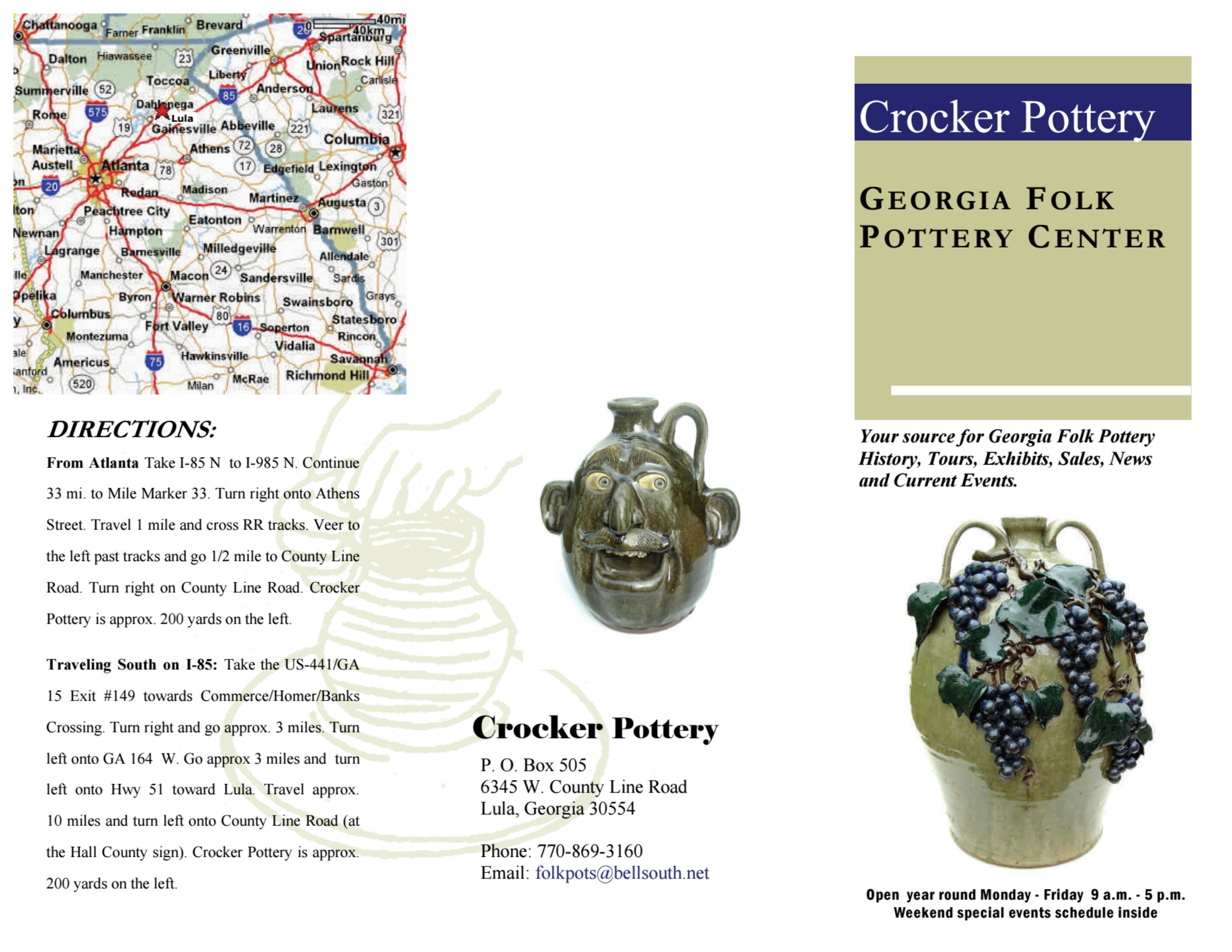 Crocker Pottery Georgia Folk Pottery Center