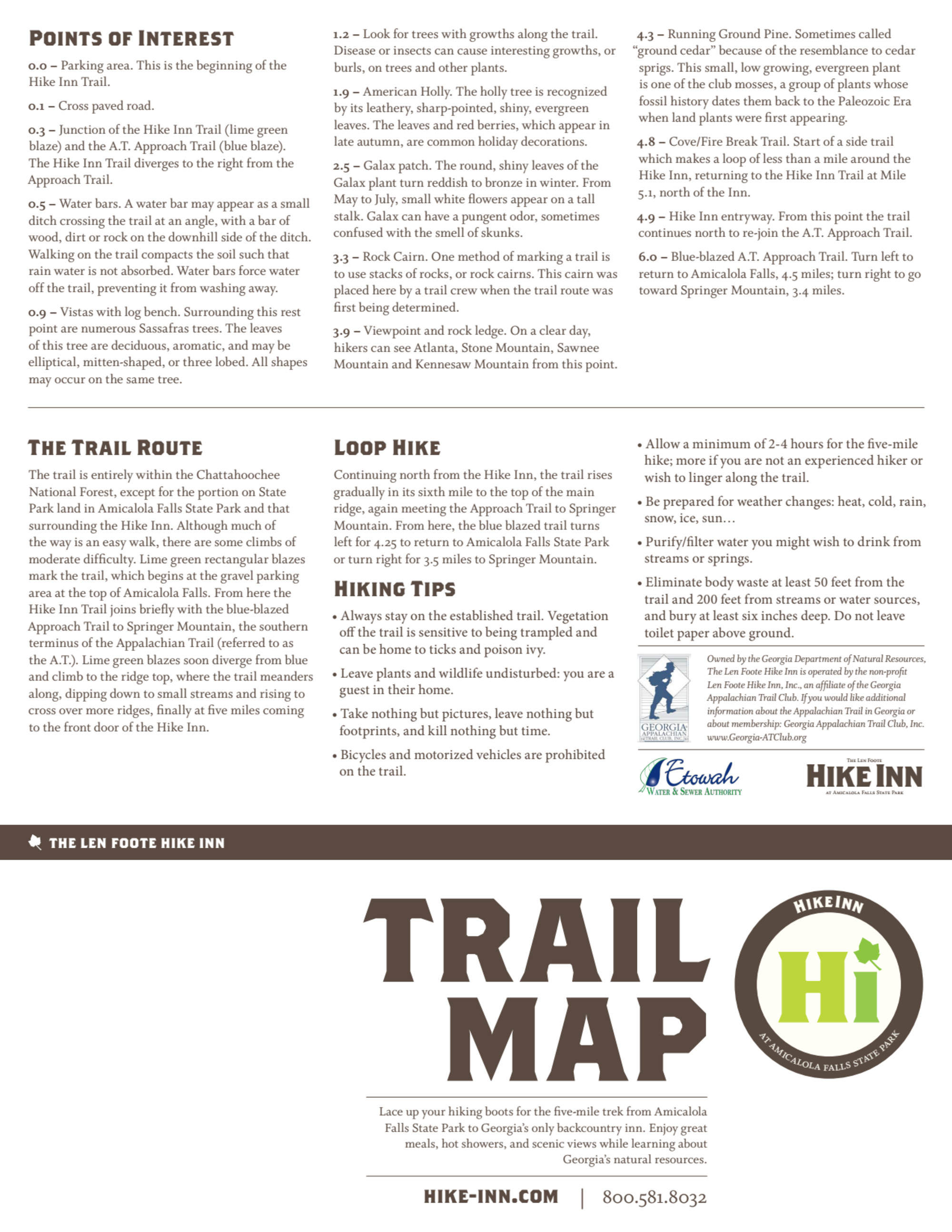 Hike Inn Trail Map