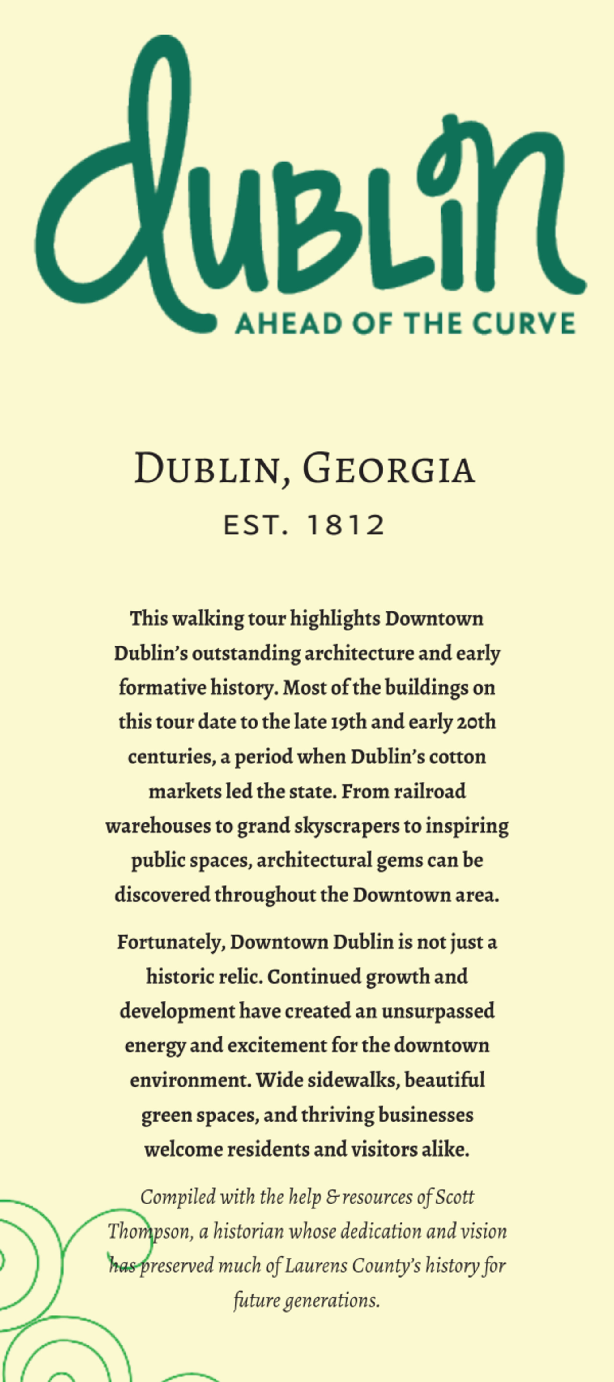 Architectural Walking Tour of Historic Downtown Dublin