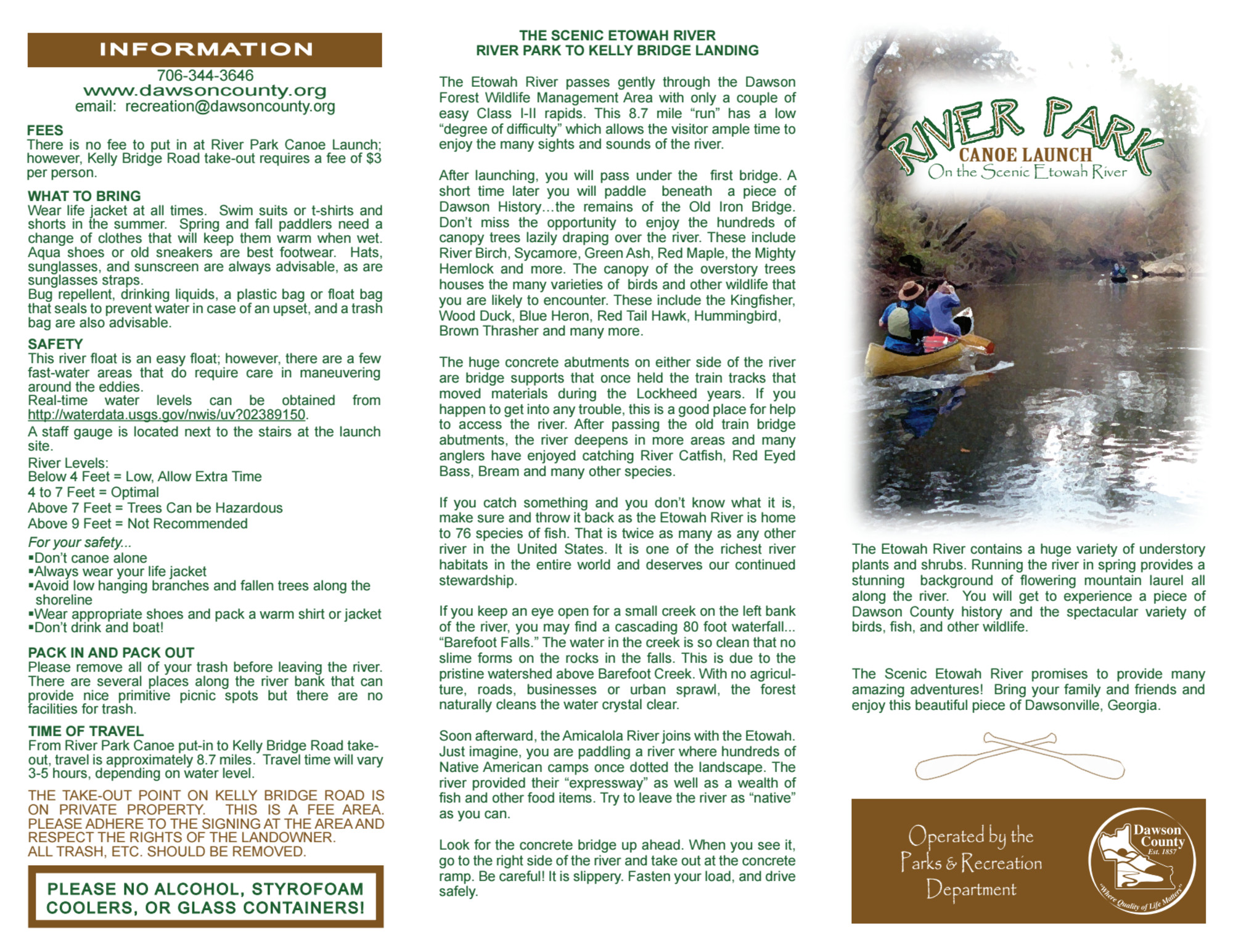 River Park Canoe Launch Brochure