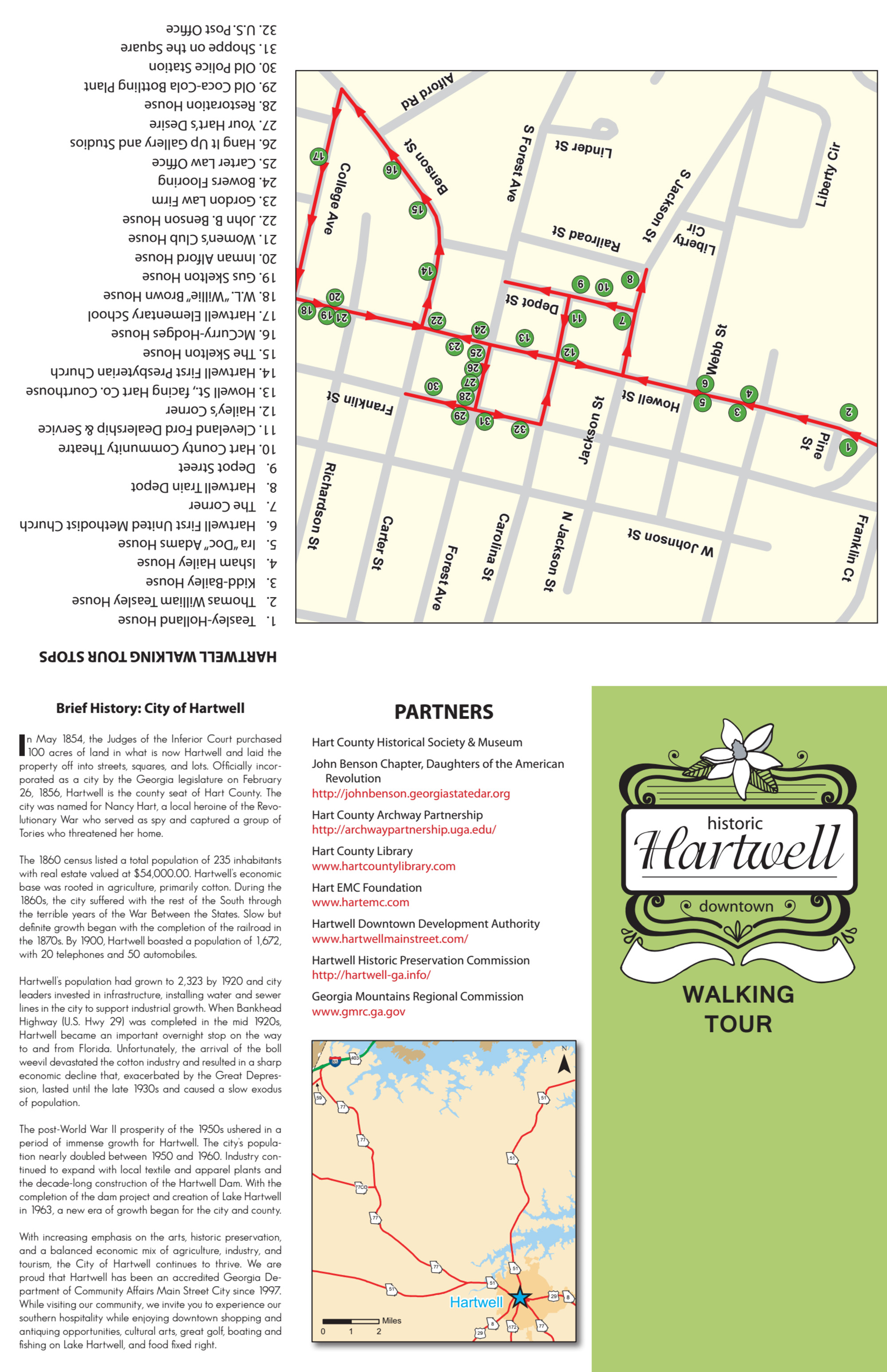 Historic Downtown Hartwell Walking Tour