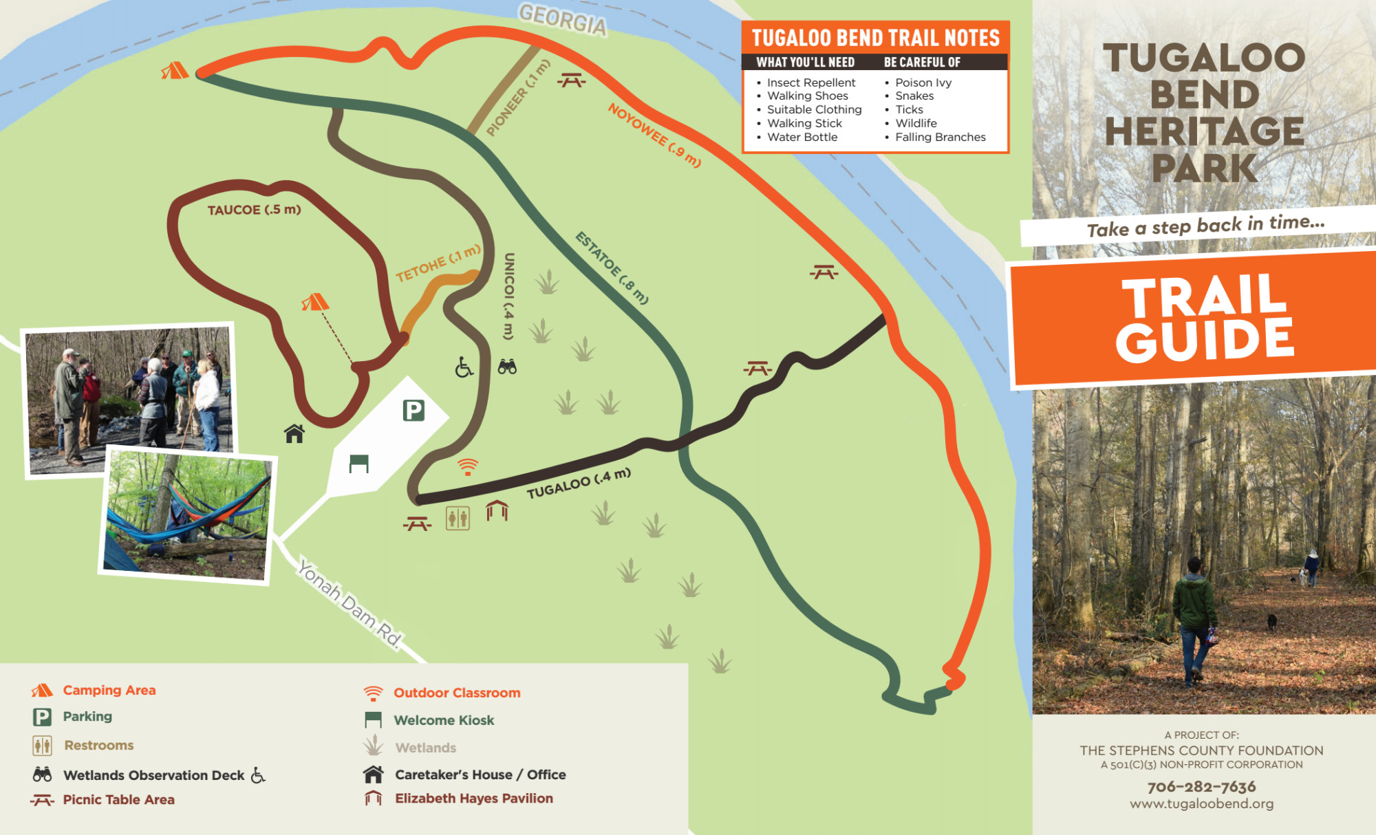 Tugaloo Bend Heritage Park Trail Guide