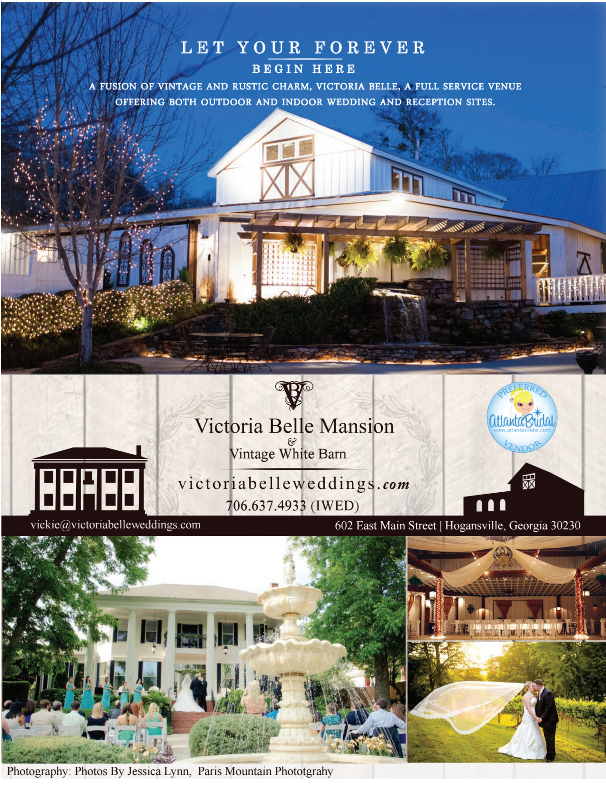 Victoria Belle Mansion and Vintage White Barn Info Pack