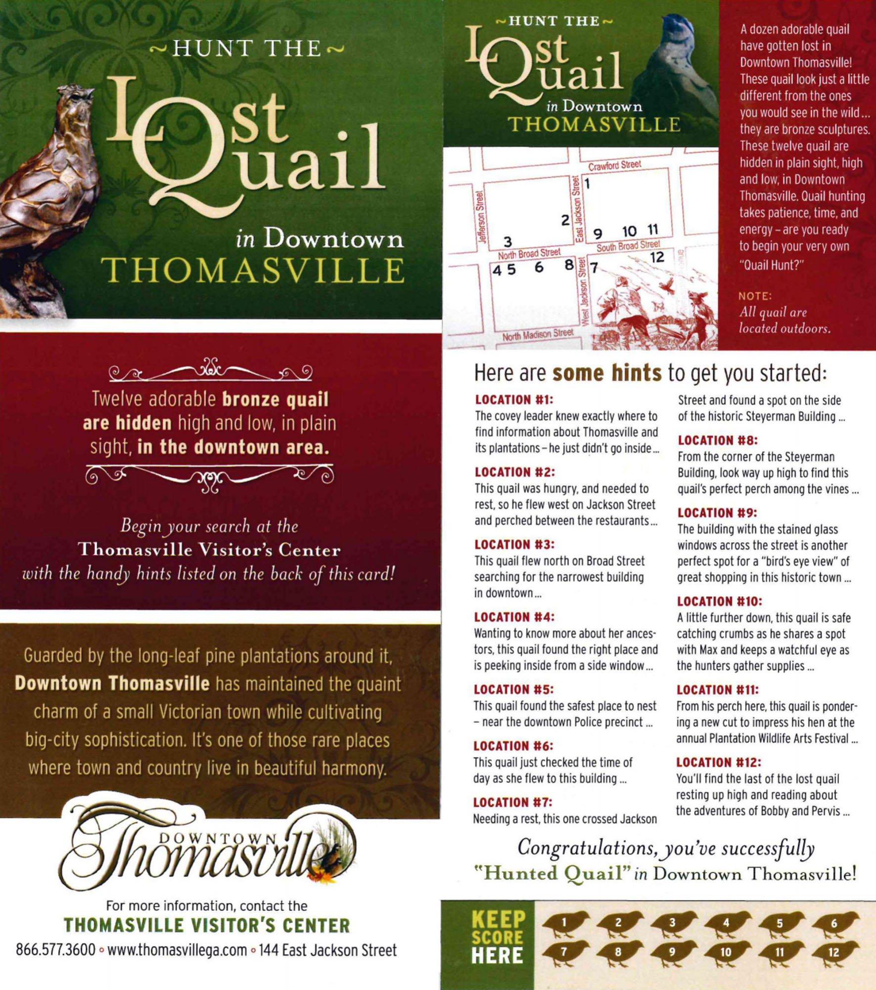 Hunt the Lost Quail in Downtown Thomasville