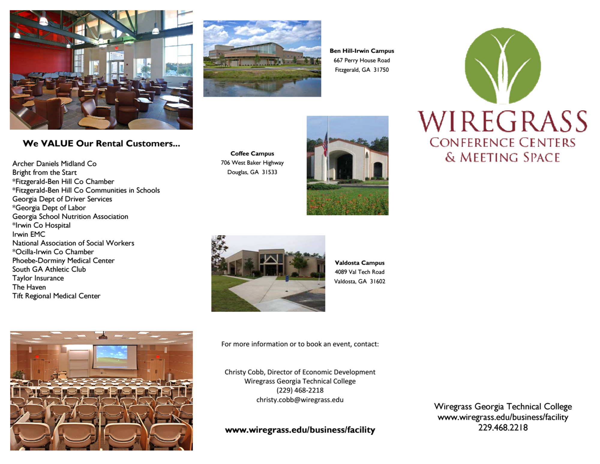 WGTC Facility Rental Brochure