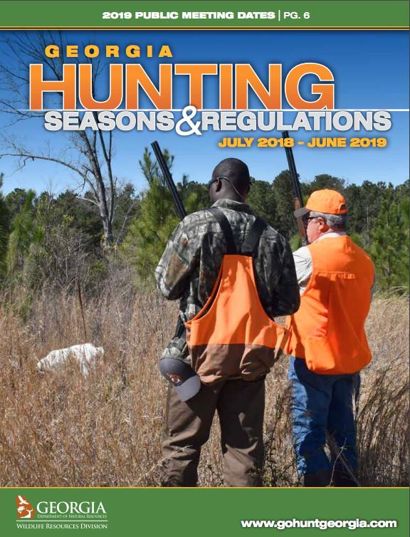 Georgia hunting seasons regulations july 2018 june for Georgia fishing license