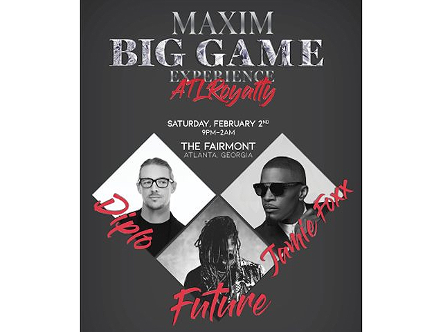 Maxim Big Game Experience lineup