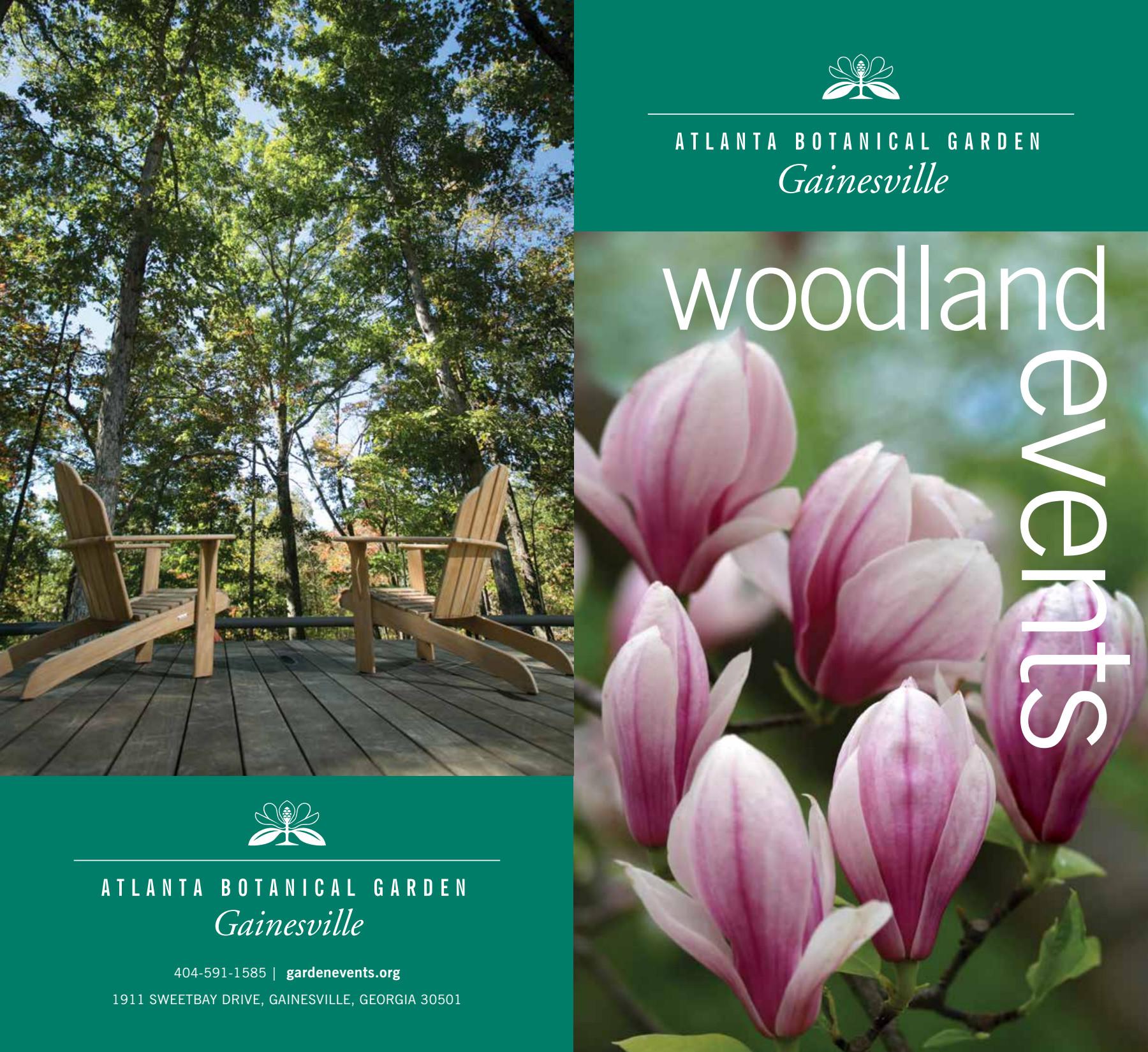 atlanta botanical garden gainesville private rentals brochure - Gainesville Botanical Garden