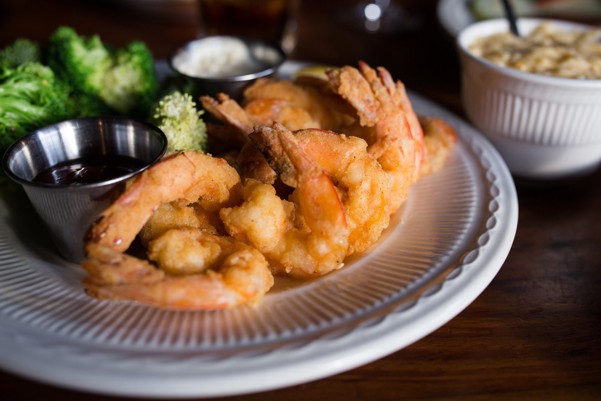 Fried shrimp at Crabdaddy's Seafood Grill on St. Simons Island