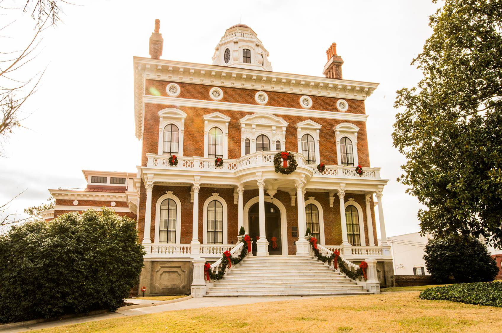 Macon's Hay House decorated for the holidays