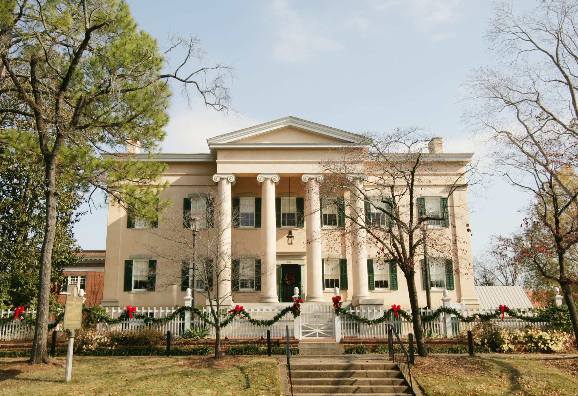 Georgia's Old Governor's Mansion decorated for the holidays
