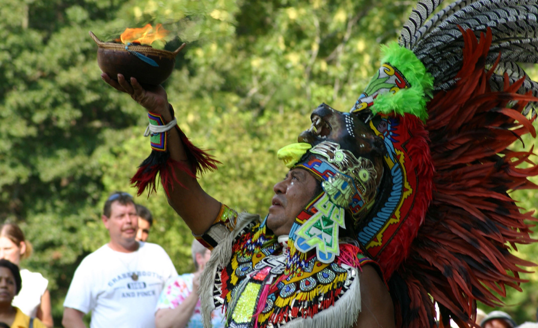 A performer at Ocmulgee Indian Celebration in Macon, Georgia