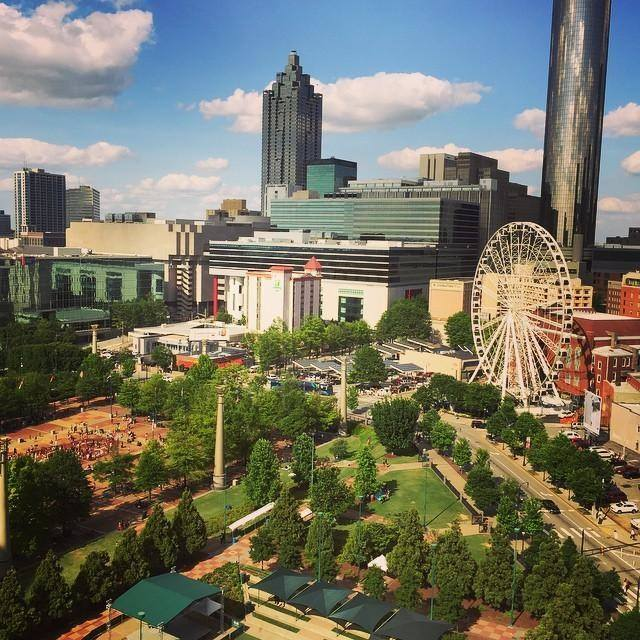 View of Centennial Olympic Park from the Omni Atlanta Hotel