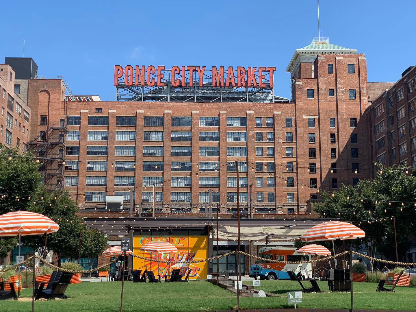 Exterior view of Ponce City Market in Atlanta, Georgia. Photo by @goexplauring