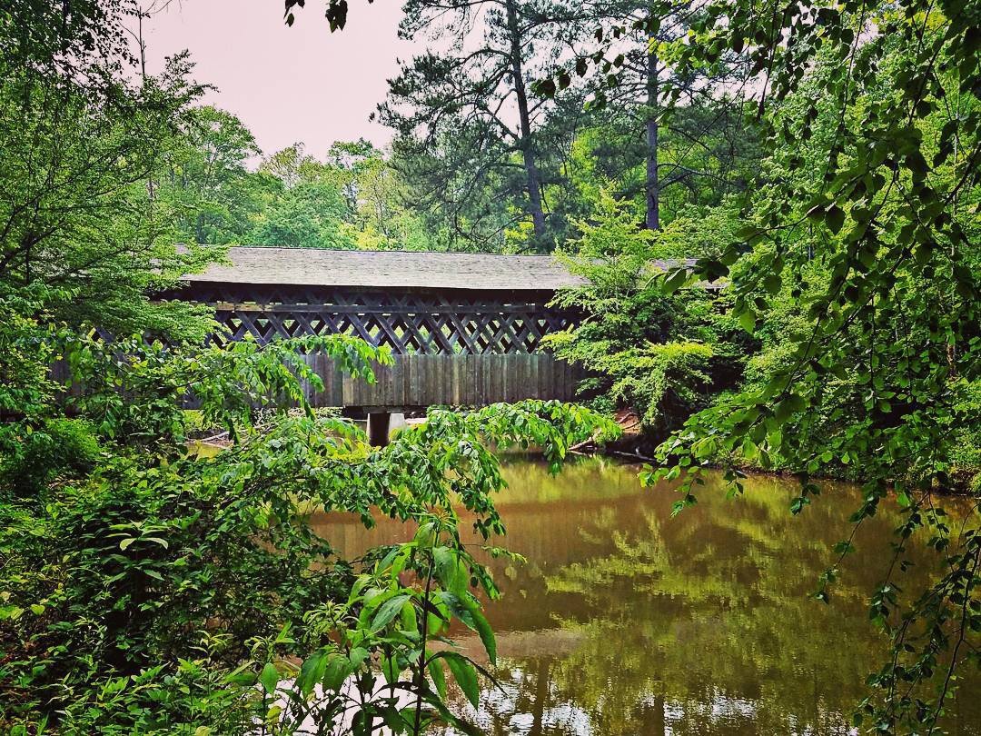 Poole's Mill Covered Bridge in Cumming, Georgia. Photo by Jackie Lerch, @jackielerch