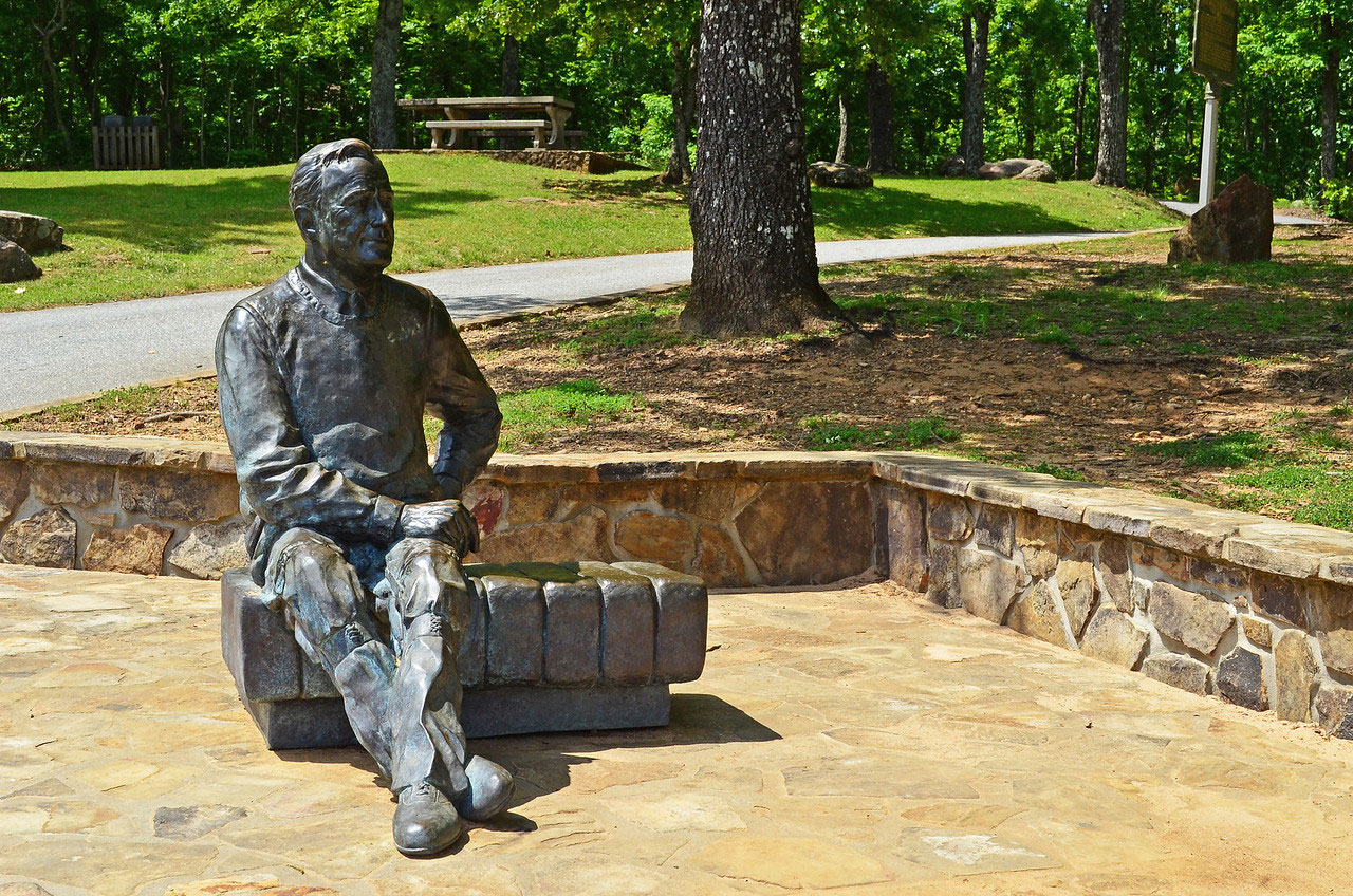 Statue of Franklin D. Roosevelt at F.D. Roosevelt State Park in Warm Springs, Georgia.