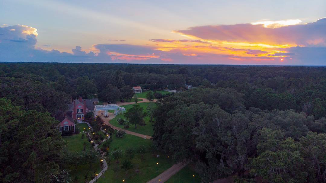Aerial view of South Eden Plantation in Thomasville, Georgia. Photo by Brandon, @mr_b_ne