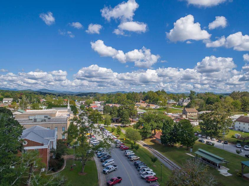 Aerial view of downtown Blue Ridge