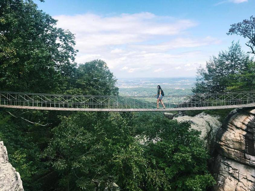 Swing a Long Bridge at Rock City Gardens Photo by alannakouri