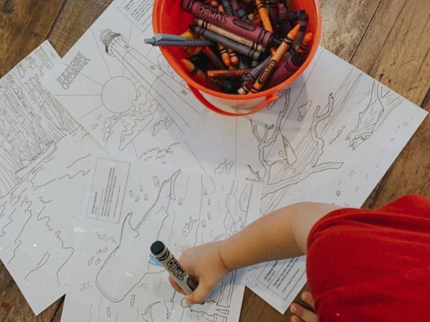 Explore Georgia coloring pages. Photo by @heathermsanchez