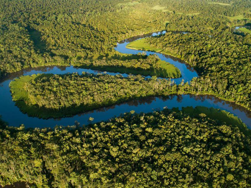 Aerial view of the Altamaha River in Georgia. Photo by Benjamin Galland