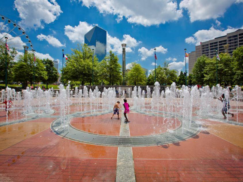 Centennial Olympic Park fountain