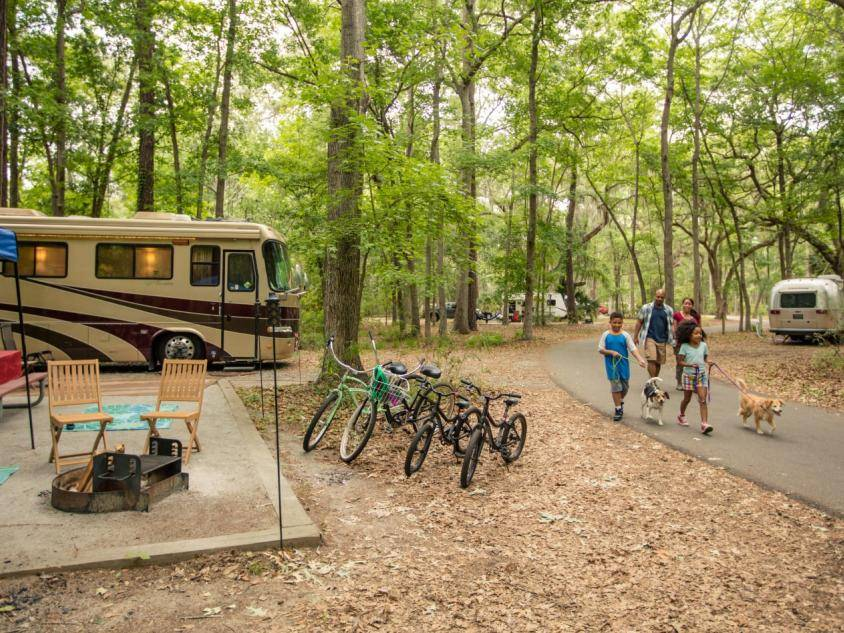 Pet-friendly camping at Skidaway Island State Park in Savannah