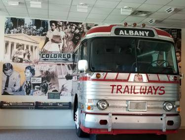 Bus exhibit at the Albany Civil Rights Institute