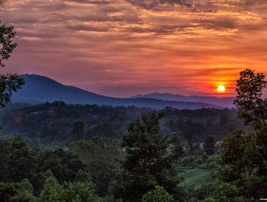 Sunset at Brasstown Valley Resort in Young Harris, Georgia