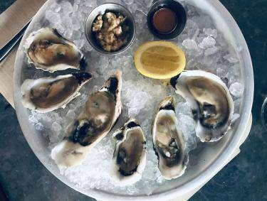 Oysters at The Grey in Savannah. Photo by @findingmeggan