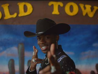 Lil Nas X in Old Town Road official movie featuring Billy Ray Cyrus