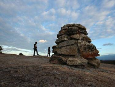 Cairn on Arabia Mountain. Photo courtesy Arabia Mountain National Heritage Area Alliance