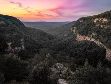 Cloudland Canyon State Park in Rising Fawn, Georgia. Photo by @billrubino