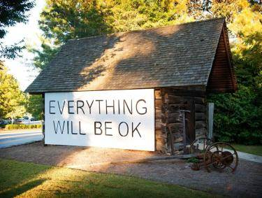Everything will be OK mural in Dunwoody, Georgia