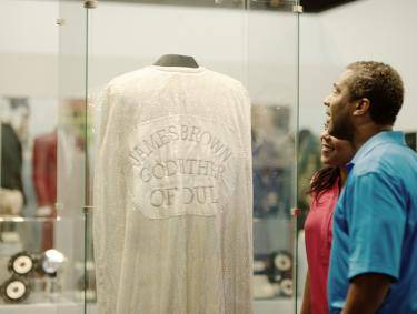 James Brown's cape at the Augusta Museum of History