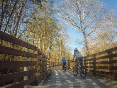 Biking on the Silver Comet Trail