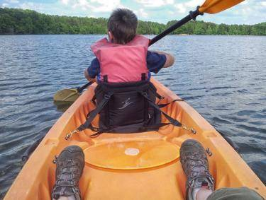 Paddling at Sweetwater Creek State Park