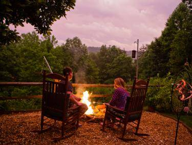 Couple enjoying a romantic trip to Blue Ridge, Georgia, at Aska Lodge Bed & Breakfast