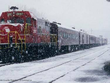 Blue Ridge Scenic Railway in the snow