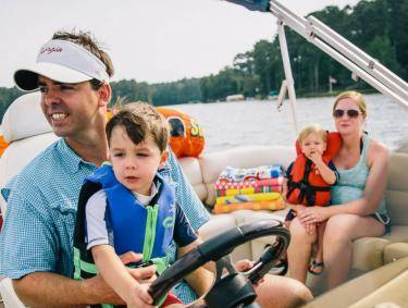 Boating on Lake Oconee in Greensboro, Georgia
